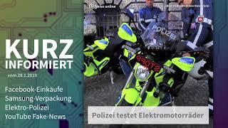 Facebook-Einkäufe, Samsung-Verpackung, E-Polizei, YT Fake News | Kurz informiert vom 28.1.2019