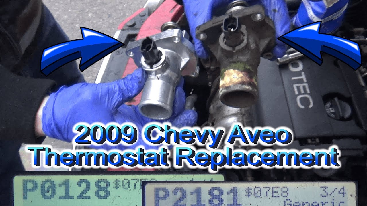 Thermostat Replacement 2009 Chevy Aveo P0128 P2128 Youtube