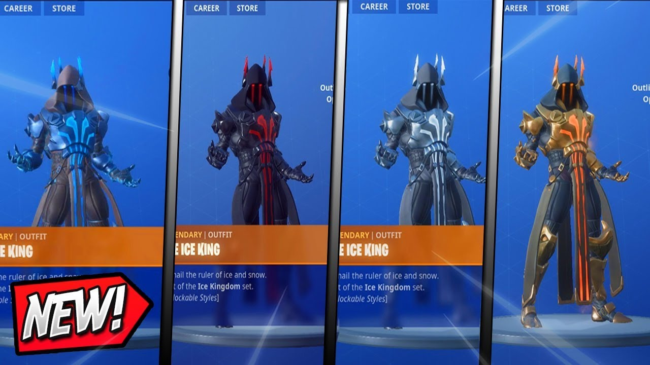 Fortnite All Unlockable Styles For The Ice King Max Tier 100 Skin