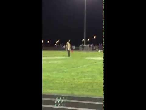 Coach Bowden addresses Gibbon High School crowd at Halftime