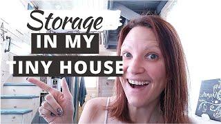 Storage In My Tiny House: Custom Storage In My Tiny House!