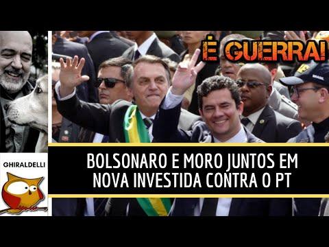 BOLSONARO E MORO JUNTOS EM NOVA INVESTIDA CONTRA O PT