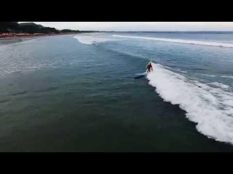 Surf DRONE seminyak beach BALI padma double6 longboard retro