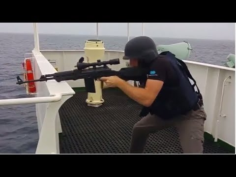 Somali Pirates Vs Ship's Private Security Guard and Navy Exclusive New Video Compilation 2017