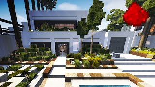 LUXURIOUS REDSTONE HOUSE  (w/ 20+ Redstone Creations)