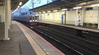 志津駅での朝の電車