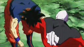 Jiren gives Goku a beatdown