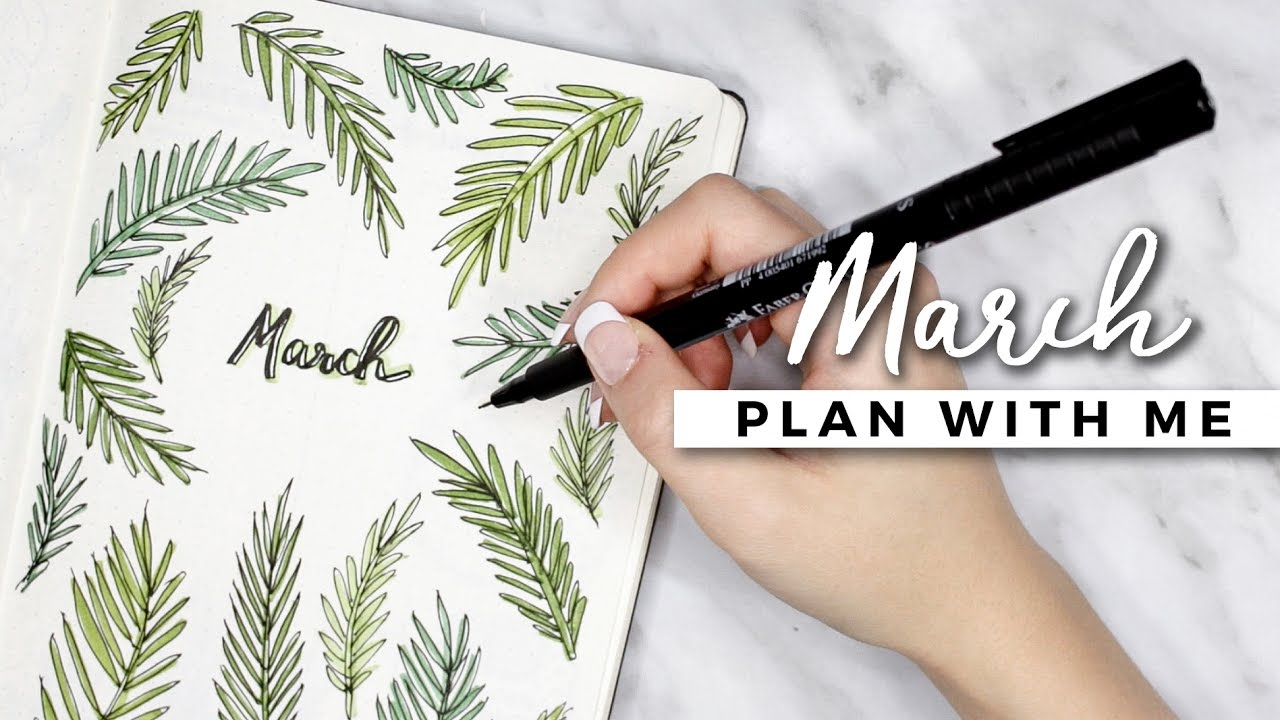 Plan With Me March 2017 Bullet Journal Setup Youtube