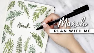 One of AmandaRachLee's most viewed videos: PLAN WITH ME | March 2017 Bullet Journal Setup