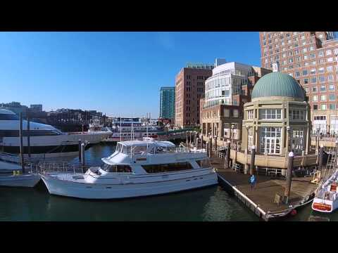 Flying the Drone in Boston Harbor