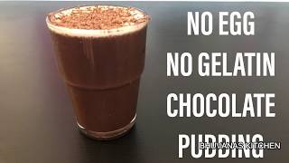 Eggless chocolate pudding recipe without gelatin | Eggless chocolate pudding recipe without oven