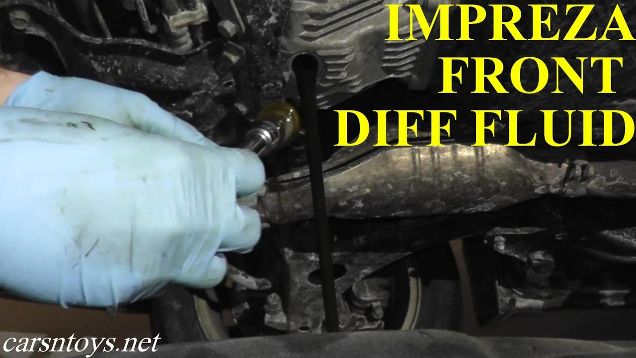 Oil Change Tools >> Subaru Front Differential Fluid Replacement with Basic ...