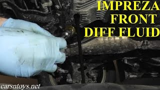 Subaru Front Differential Fluid Replacement with Basic Hand Tools