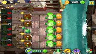 Plants vs Zombies 2:Pirate Seas-Last Stand 3