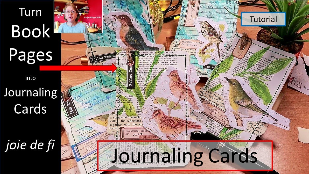 How To Turn Book Pages Into Journaling Cards ⭐ Beginner Step By Step