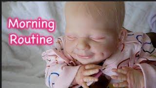 Reborn Baby Doll Morning Routine I Alexi I All4Reborns