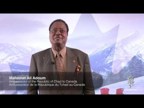 Republic of Chad Ambassador Wishes Canada a Happy 150th!