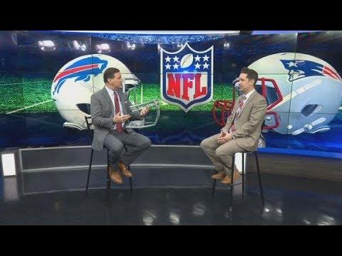 Jeff Howe with Tom Leyden after Patriots win over Bills
