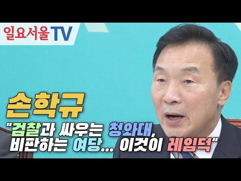 """손학규 """"검찰과 싸우는 청와대, 비판하는 여당... 이것이 레임덕"""""""