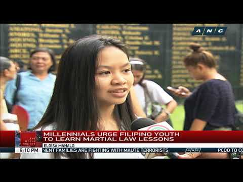 What martial law victims want to tell the youth