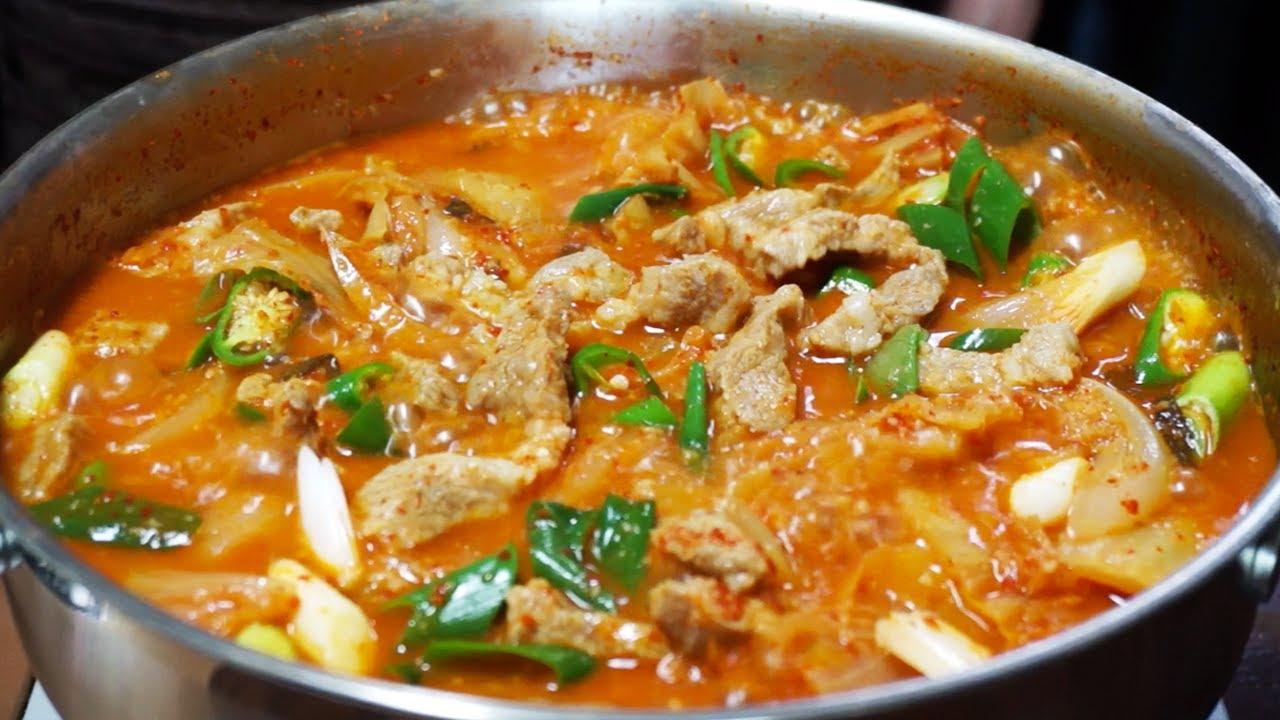 돼지고기 김치두루치기 찌개처럼 떠먹는 국물 김치두루치기! 유명식당 보다 더 맛있는 레시피