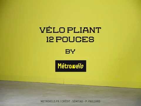 [STOP-MOTION] Metrovelo Grenoble vélo 12 pouces pliant thumbnail