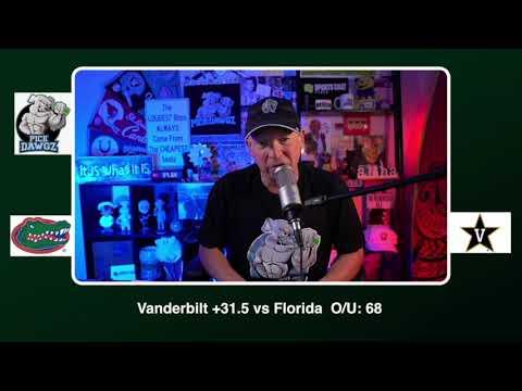 Vanderbilt vs Florida 11/21/20 Free College Football Picks and Predictions CFB Tips Pick Dawgz