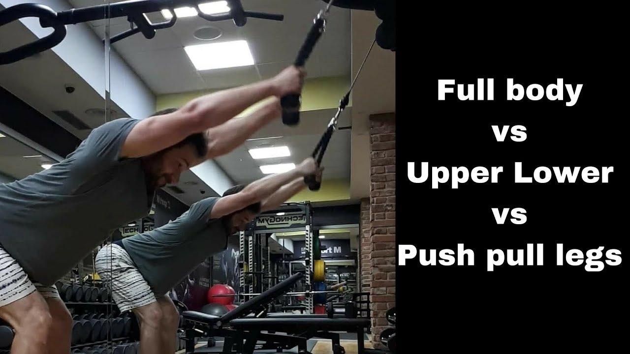 Why I (generally) prefer full body splits - Push pull legs vs upper lower  vs bro splits