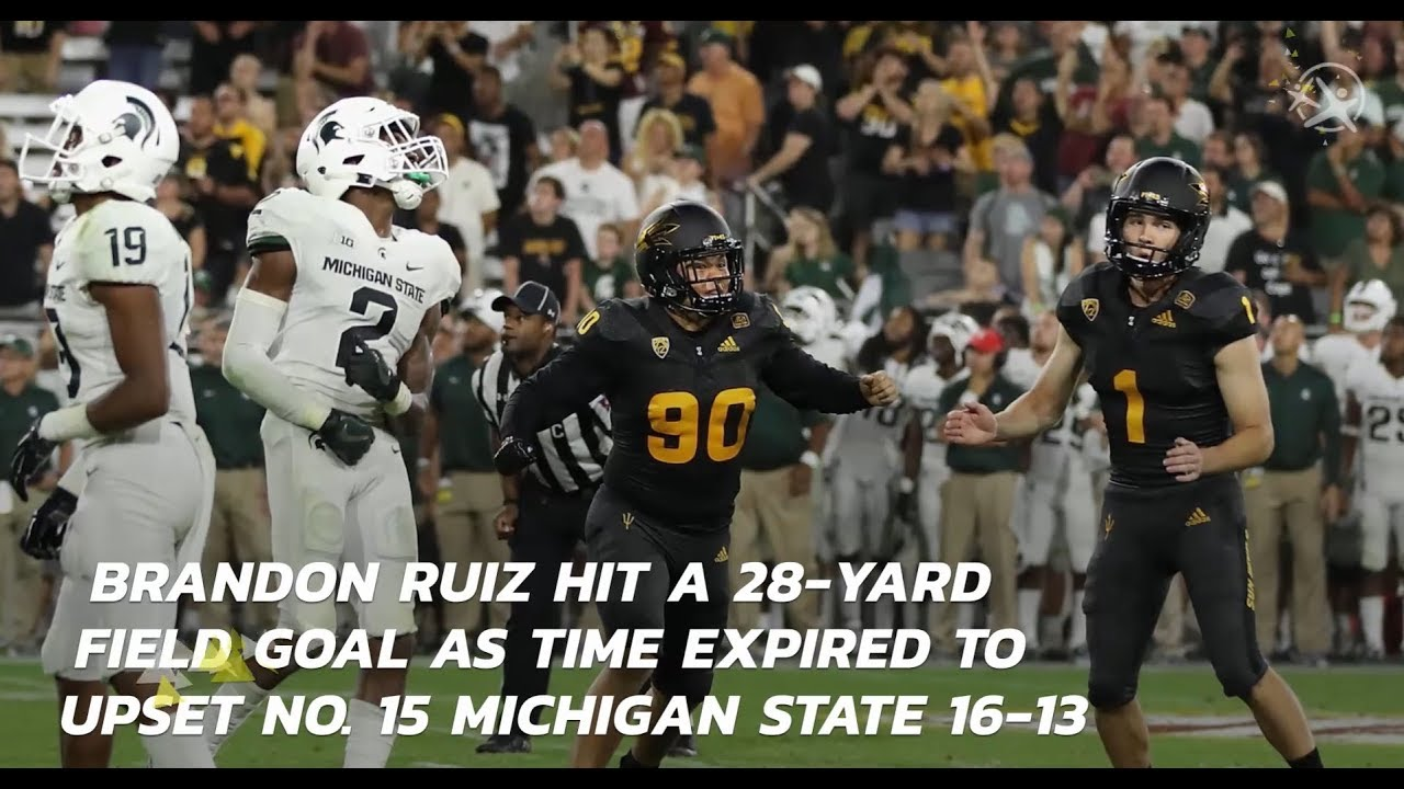 Brandon Ruiz Winning Kick Upsets No. 15 Michigan State 16-13