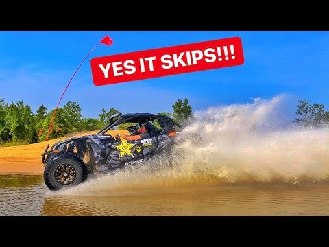 CRASH! Hydroplaning POND With 200HP Maverick X3!!!