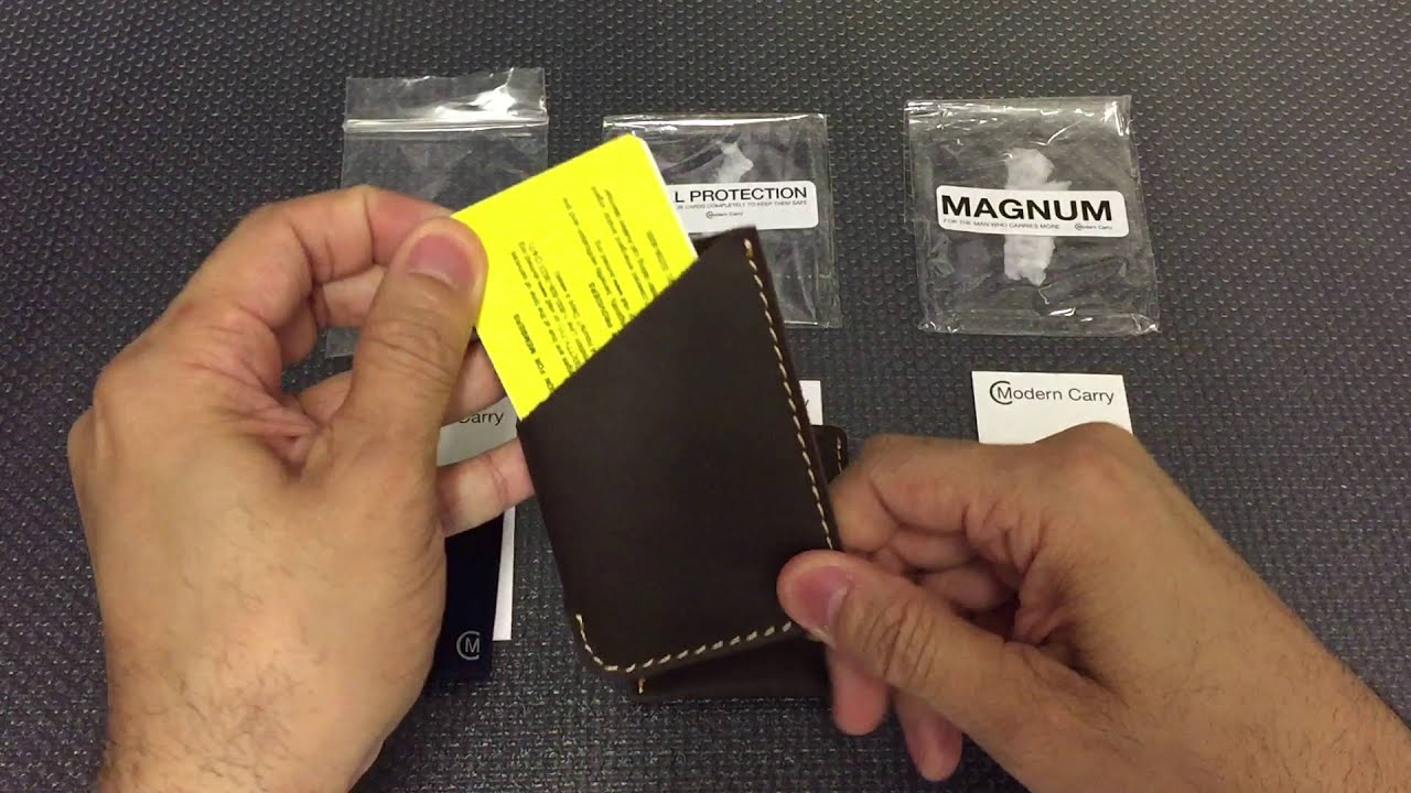Mens Modern Leather Wallet Sleeve by Modern Carry Magnum