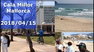 Majorca Cala Millor beach - Sunny weather 2018/04/15