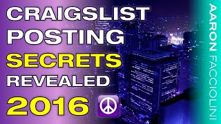 How to Post Ads on Craigslist 2016 - BEST Training of 2016 -2017
