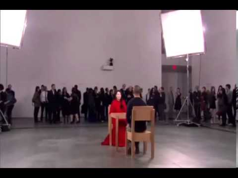 Marina Abramovic Meet Ulay. The artist is present