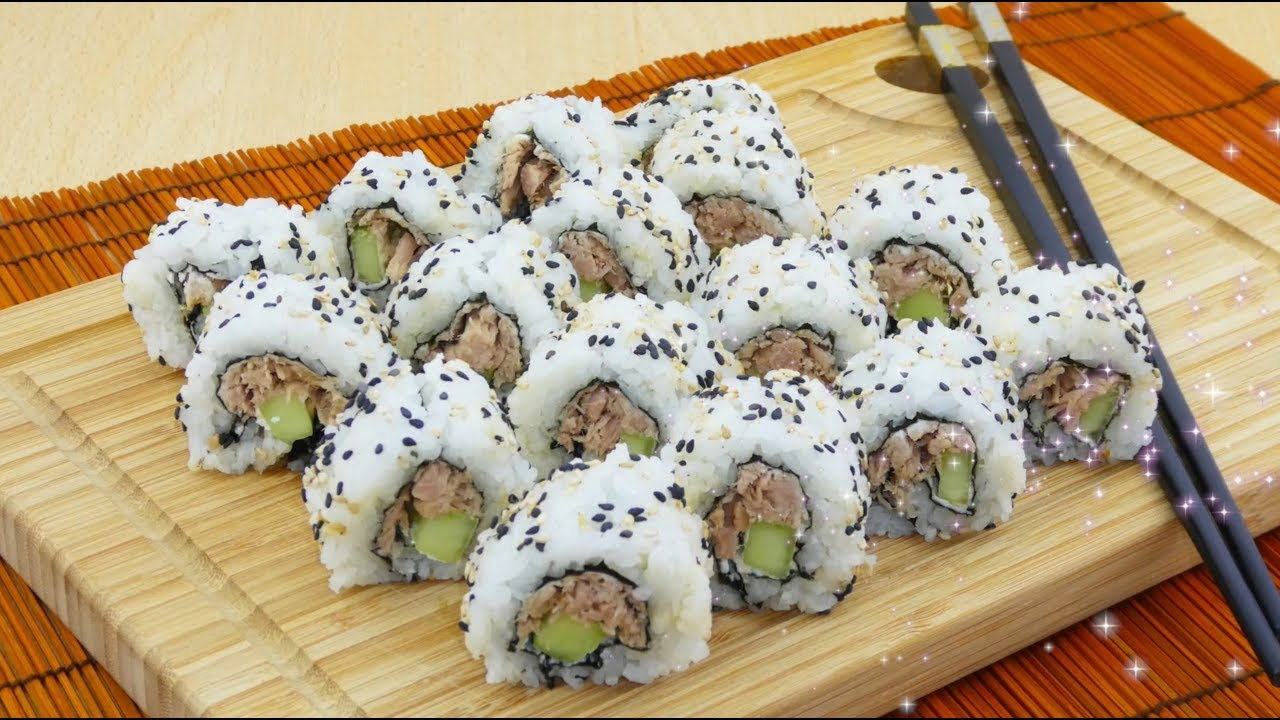 Ricetta Per Uramaki.Sushi Fatto In Casa Uramaki Youtube