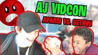 ARM WRESTLING WITH APARRI! ANIMAL JAM VIDCON VlOG 2017