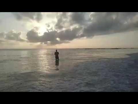 Flyfishing outside alhapa jambiani beach zanzibar