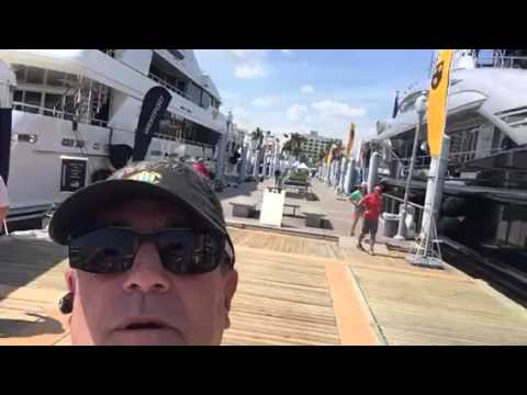 Yacht Broker Randall Burg with Super Yachts at the Palm Beach Boat Show