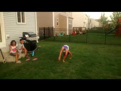 Download Youtube: Gymnastic routine backyard practice