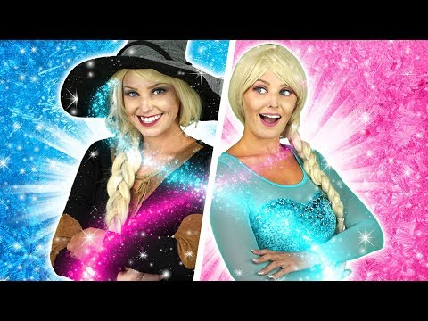 PRINCESSES HALLOWEEN PARTY Which Frozen Sister Turns into a Witch? Totally TV