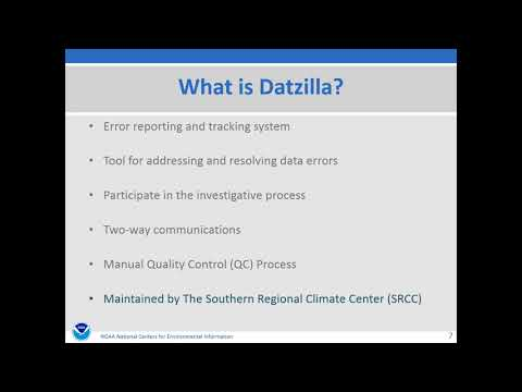 NWS Climate Services Seminar, 10/24/2017, NCEI's Datzilla Gatekeeper Supports The Data Archive