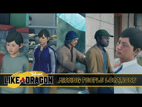 Yakuza: Like a Dragon - Missing People (Support Quest Locations) |