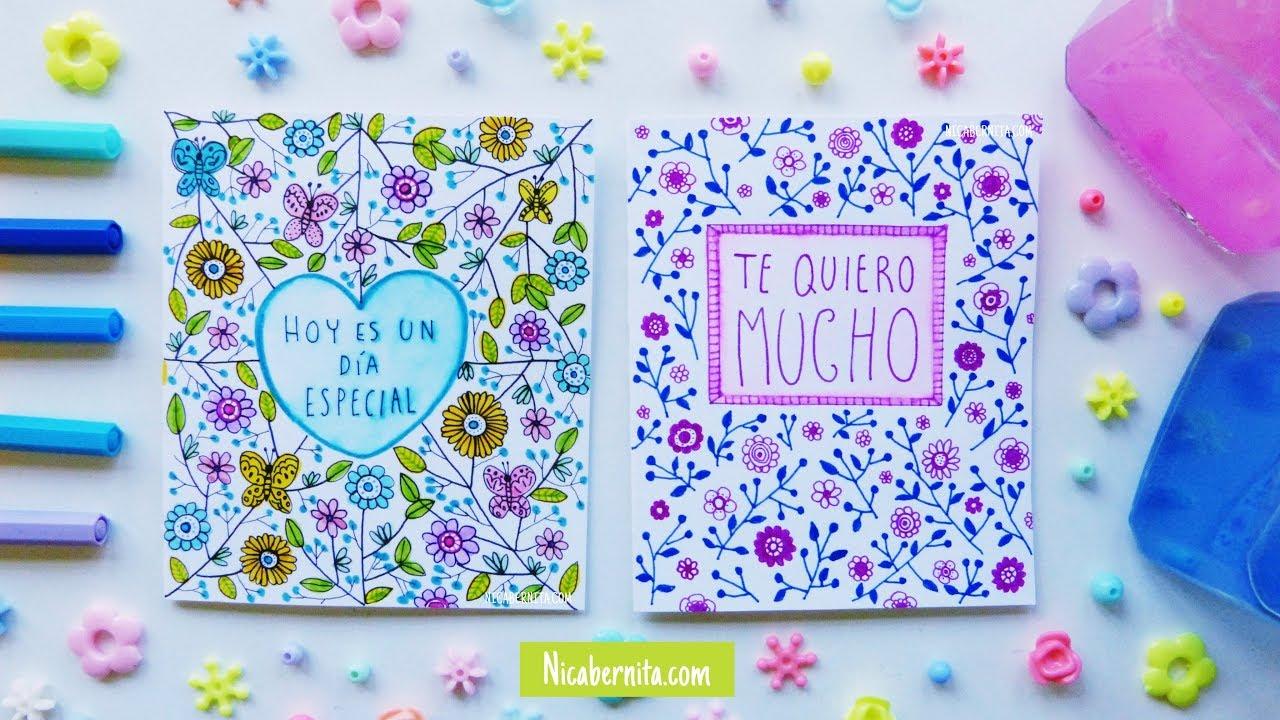 Dibujos Para Portadas De Cuaderno O Tarjetas De Amor Carátulas Fáciles Y Bonitas