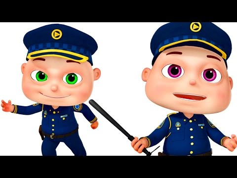 Thumbnail: Five Little Babies Dressed As Police | Zool Babies Fun Songs | Nursery Rhymes Collection
