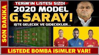 Karşınızda 2020 Model Galatasaray! I Terim'in Tam Listesi!