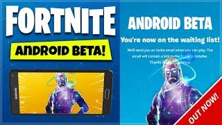 Fortnite ANDROID Mobile - FORTNITE ANDROID RELEASED BETA CODES! How To Join Fortnite Android Beta!