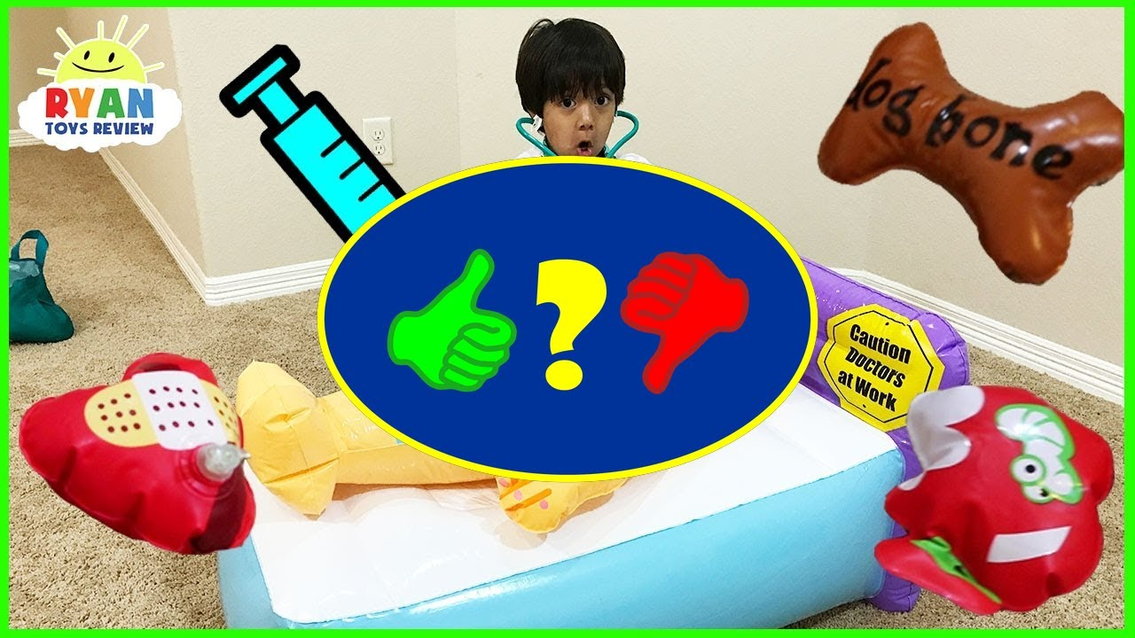 Doc Ryan Pretend Play Silly Surgery Operation Game For
