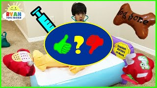 Doc Ryan Pretend Play Silly Surgery Operation Game For Kids Toys - Video Review