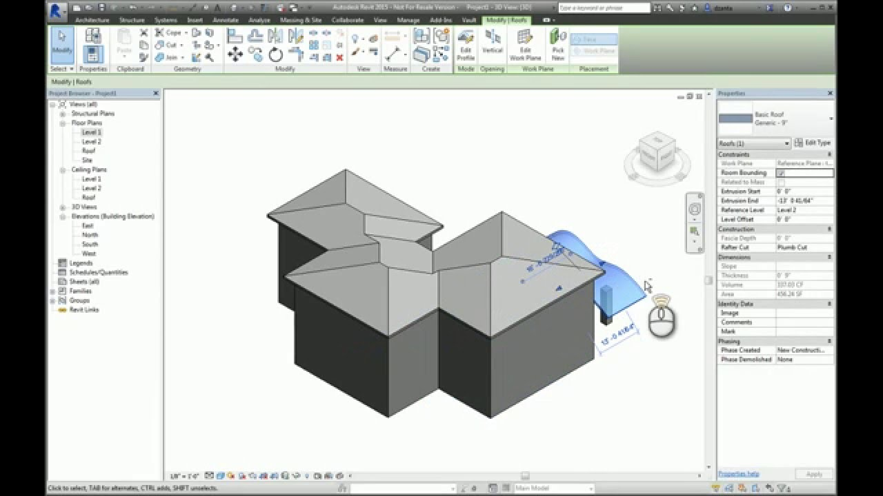 Revit Roof By Extrusion A How To Guide Youtube