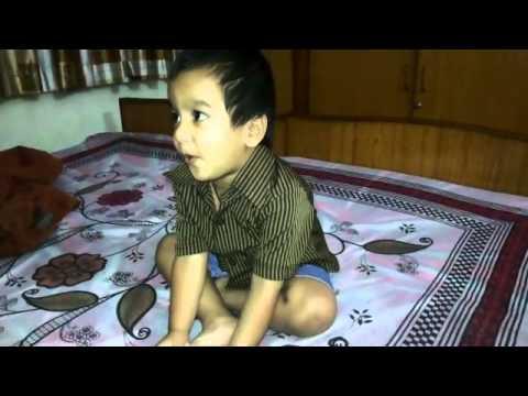 baby learning Auzu Billahi min ash-shaytaan-ir rajeem. Bismillah-ir Rahman-ir Raheem-masir